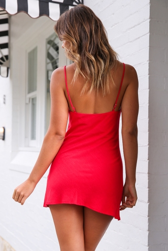 Empty Glasses Dress - Red