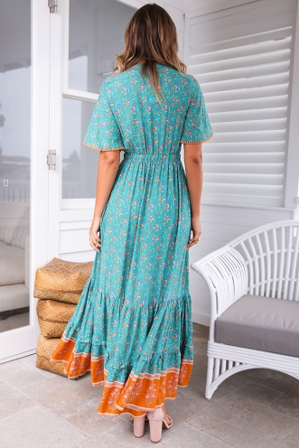 Boho Tribe Dress - Teal Print