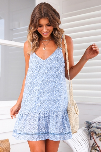 Bobbi Dress - Blue Print