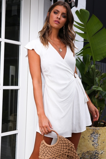 In The Sticks Dress - White