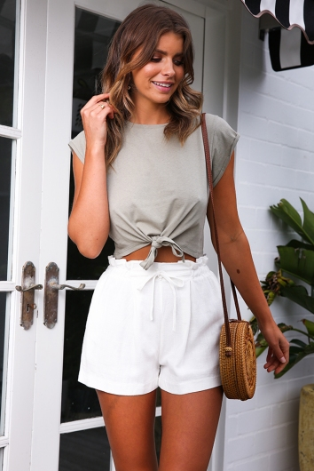 Rule Breaker Top - Khaki