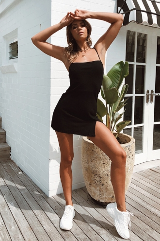 Empty Glasses Dress - Black