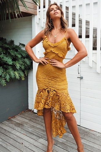 Analeese Dress - Mustard
