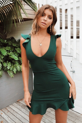 1acd9e61165 ... Katrina Dress - Forest Green