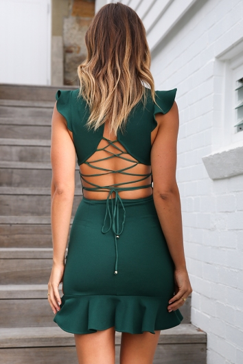 Katrina Dress - Forest Green