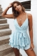 All Figured Out Playsuit - Blue Grid