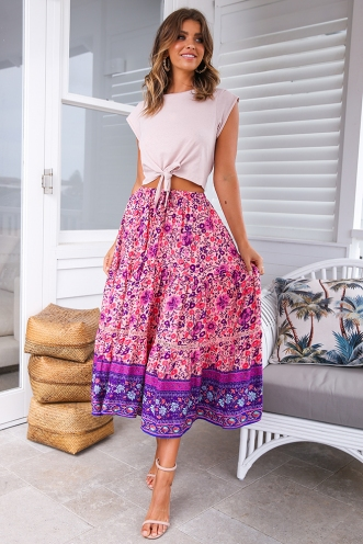 Dream Girl Skirt - Pink Print
