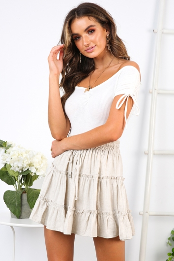 Next To You Skirt - Beige