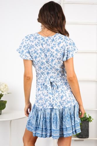 Tess wrap dress - Blue Print