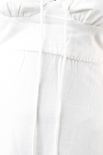 Leila Dress - White Linen