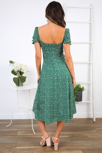 Karli Dress - Green Print