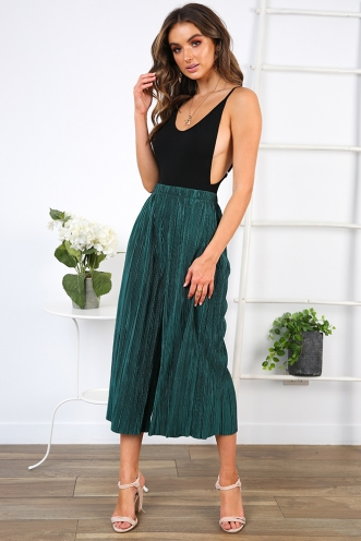 Julie Cropped Pants - Forest Green
