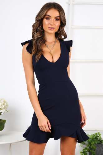 Katrina Dress - Navy