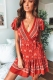 Tess wrap dress - Red Print