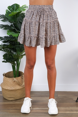 Next To You Skirt - Beige Print