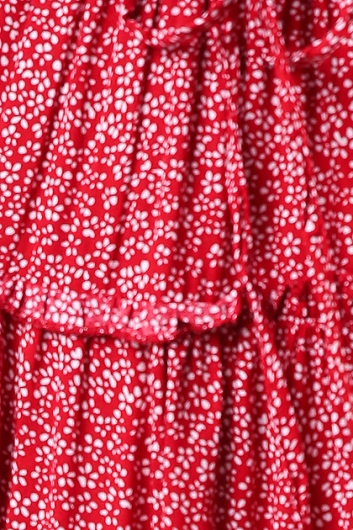 Next To You Skirt - Deep Red Print