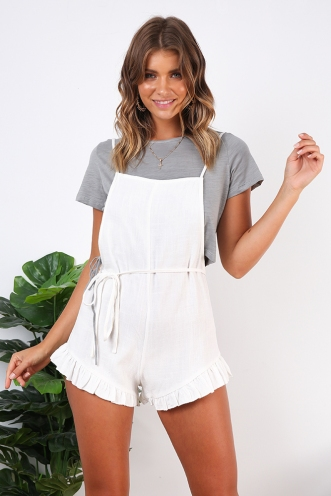 Fiona Playsuit- White