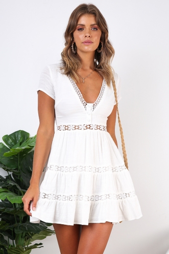 Mexican Sky Dress - White