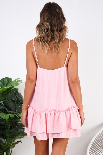 French Influence Dress - Pink