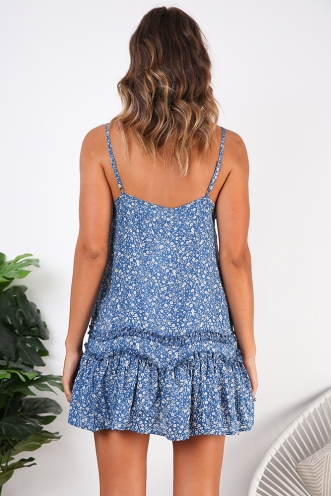 Dreaming Of You Dress - Blue Print