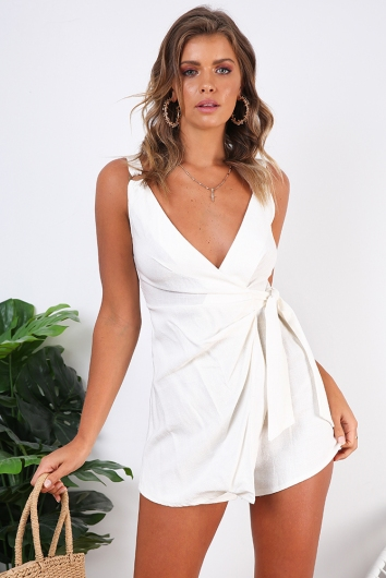 Anastasia Playsuit - White