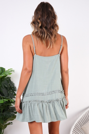 Dreaming Of You Dress - Sage