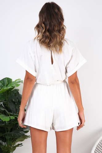 Aimee Playsuit - White