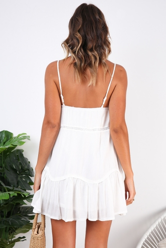 Desert Sands Dress - White