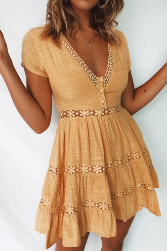 Mexican Sky Dress - Yellow