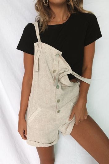 Emily Playsuit - Beige