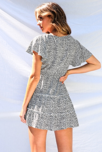 Coastline Dress - Black/White Print