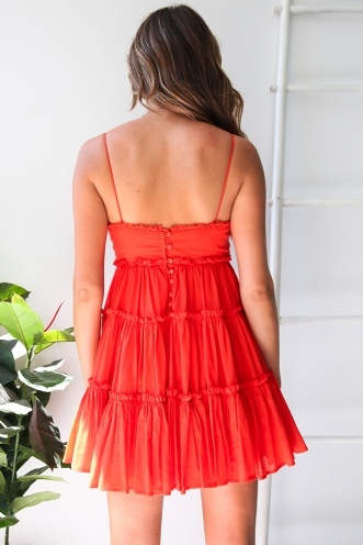 Kania Dress - Red