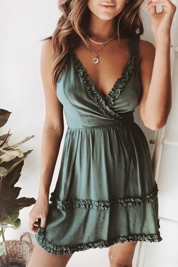 Crave You Dress - Pine Green