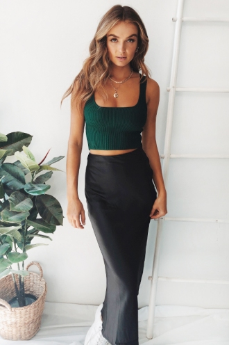 Clumsy Love Top - Forest Green