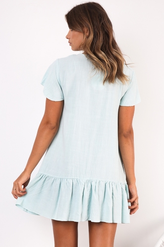 Rose Thorn Dress - Mint