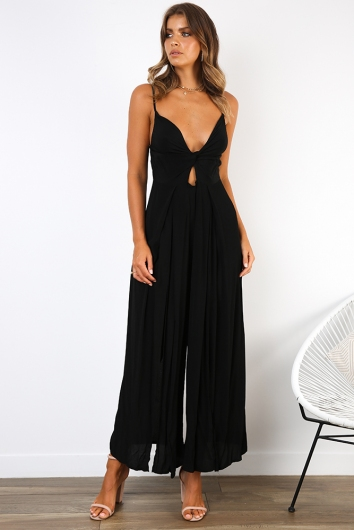 Crush On You Jumpsuit - Black