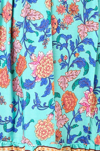 Byron Bay Dress - Turquoise Print