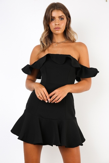 Spanish Steps Dress - Black