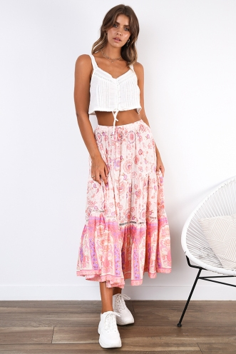 Dream Girl Skirt - Pink/Purple Print