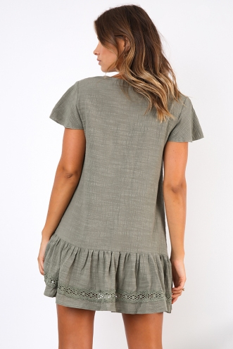 Meet Me In Italy Dress - Khaki