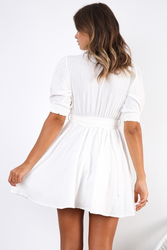 Back To Sorrento Dress - White