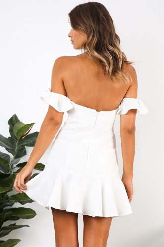 Spanish Steps Dress - White