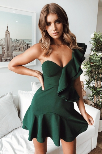 Safe Haven Dress - Forest Green