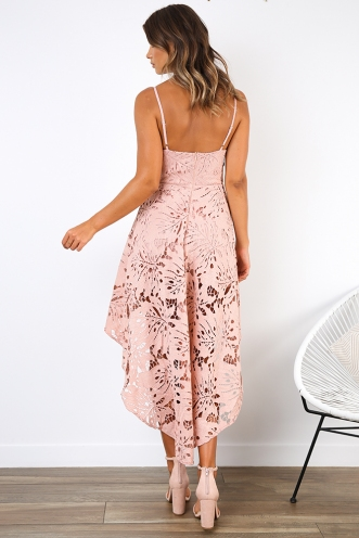 Spring Race Dress - Blush