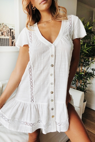 Meet Me In Italy Dress - White