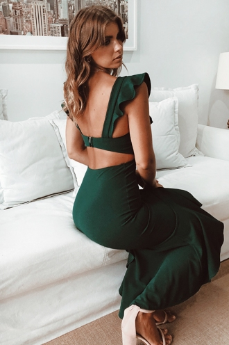 Make An Entrance Dress - Forest Green
