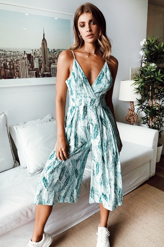 Lexi Jumpsuit - Green Leaf