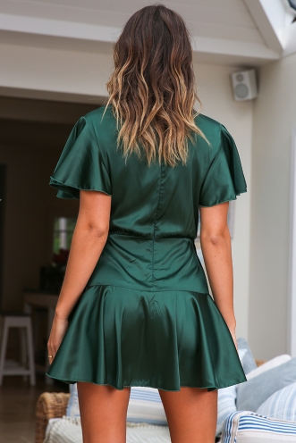 Laura Dress - Forest Green