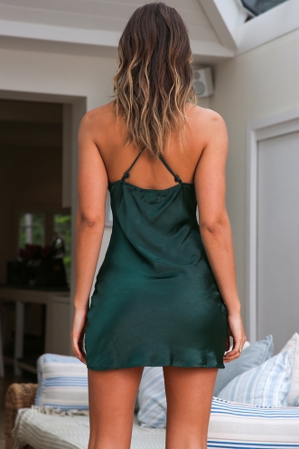 Priya Dress - Forest Green