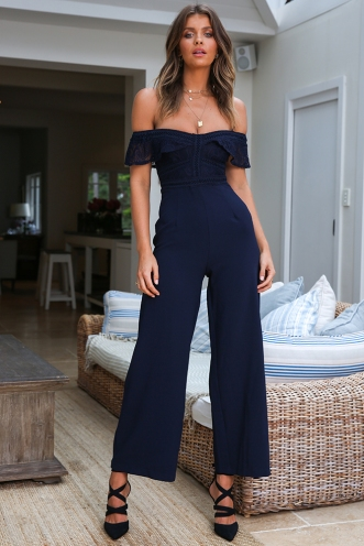 Wine Taster Jumpsuit - Navy